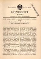 Original Patent - E. Kostelecky In Dobran / Dobrany , 1890 , Maschine Zum Schneiden Von Horn , Elfenbein , M. Kodl Plzen - Historische Dokumente