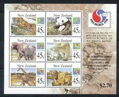 NEW ZEALAND Mi.Nr. Block 44 Elefant, Eisbär, Tiger, Panda, Giraffe Löwe - MNH - Blocs-feuillets