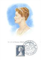 Carte Maximum S.A.S. La Princesse Grace De Monaco - Cartas Máxima