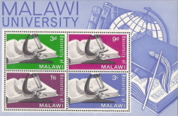 Malawi,  Scoitt 2014 # 36a,  Issued 1965,  S/S Of 4,  MNH,  Cat $ 4.25,  Education - Malawi (1964-...)