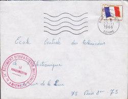 France AMIENS Somme 1966 Cover Lettre Le Vaguemestre 51e Regiment D'Infanterie Motorisé - Cachets Militaires A Partir De 1900 (hors Guerres)