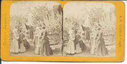 PHOTO STEREOSCOPIQUE Du XIXe Siècle..Scènes Animées.. PRIERE, SERMON, CURE, - Photos Stéréoscopiques