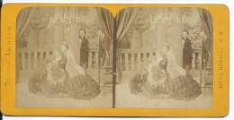 PHOTO STEREOSCOPIQUE Du XIXe Siècle..Scènes Animées.. THEATRE - Fotos Estereoscópicas