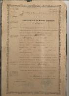 BOUV@ CERTIFICAT BONNE CONDUITE  15ème BATAILLON CHASSEURS A PIED DE SEDAN ARDENNES 08 MILITARIA - Documents Historiques