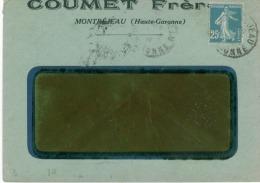 Pub Sur Lettres De 1924 Coumet Frères à Montréjeau - Publicités