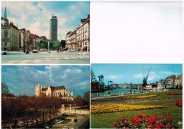 44b463 CpmNANTES Vue Sur La Cathédrale , Métropole De L'Ouest Et Tour De Bretagne - Nantes