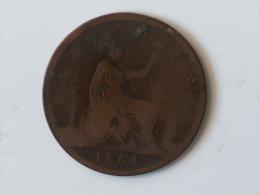 Grande-Bretagne 1 Penny 1864 - 1816-1901 : Frappes XIX° S.