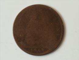 Grande-Bretagne 1 Penny 1868 - 1816-1901 : Frappes XIX° S.