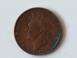 Grande-Bretagne 1 Farthing 1826 - B. 1 Farthing