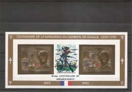 Guerre40/45-DeGaulle-Débarquement De Normandie ( 3792 De Guyane XXX -MNH- En Feuille Avec Surcharge à Voir) - Guerre Mondiale (Seconde)