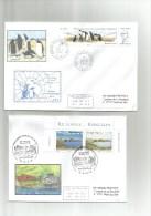 TAAF 2 Enveloppes île Longue 1er Jour Et 40ème SATA - Other