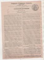 ASSURANCE MARITIME NAVIGATION INTERIEURE 1900 - L INTELLIGENT ( BATEAU ) VOYAGE D AUBERVILLERS A SELLES SUR CHER - - Boats
