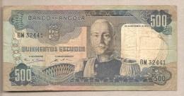 Angola - Banconota Circolata Da 500 Scudi - 1972 - Angola
