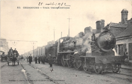 MANCHE  50  CHERBOURG  TRAIN TRANSATLANTIQUE - Cherbourg