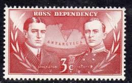 ROSS N° 6 XX Expédition Néo-zélandaise Transantarctique Shackleton Et Scott 3 C. Carmin TB - Dépendance De Ross (Nouvelle Zélande)