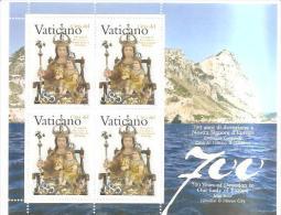 79619)foglietto Vaticano E Gilbiterra 700 Anni Devozione Nostra Signora D´europa - Blocks & Sheetlets & Panes