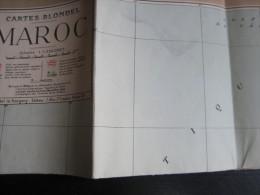 Carte (86x74 Cm) Du Maroc - 1 : 1.250.000 (Cartes Blondel) Mise À Jour En 1946 - Cartes Géographiques