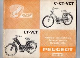 25 - BEAULIEU VALENTIGNEY - MONTBELIARD- BEAU CATALOGUE PIECES DETACHEES-CYCLES PEUGEOT C-CT-VCT-LT-VLT- 1967 - Motos