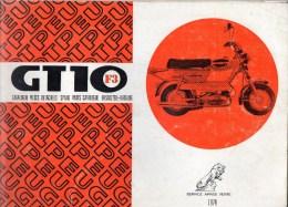 25 - BEAULIEU VALENTIGNEY - MONTBELIARD- BEAU CATALOGUE PIECES DETACHEES-CYCLES PEUGEOT MOTO- GT10 F3- 1974 - Motos