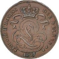 Belgique, Léopold II, 1 Centime, Légende Flamande, 1907, KM 34.1 - 1865-1909: Leopold II