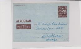 NORVEGE - 1948 - AEROGRAMME De TRONDHEIM Pour STOCKHOLM (SUEDE)