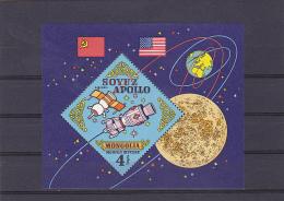 SPACE,MINT, BLOCK  ,MNH **,MONGOLIA