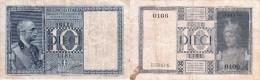 Italie - Billet 10 Lires - Regno D'Italia – 10 Lire