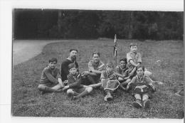 CHAMARANDE : Jacques SEVIN, Main Dans La Main. Patrouille Des Aigles. Scouts De France, Années 20. 2 Scans. CARTE PHOTO - Scoutisme