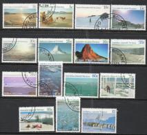 Australian Antarctic Territory 1984-1977 - Antarctic Scenes Set Complete SG63-77 U-VFU Cat £18.65 SG2015- C Notes Below - Australian Antarctic Territory (AAT)
