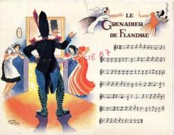 75 - PARIS- CHANSON LE GRENADIER DE FLANDRES - PUBLICITE MICTASOL 28 RUE DU FOUR- ILLUSTRATEUR ROGER CARTIER - Partitions Musicales Anciennes