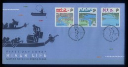 1987 Singapore Stamps First Day Cover FDC -River Life Commemorative Stamps Issue( A-074) - Singapour (1959-...)
