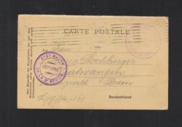 CP Depot Prisoniers De Guerre Place De Rouen Etat Major De La 3e Region 1915 - Poststempel (Briefe)