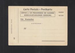 CP Franchise Militaire Envoi A Un Prisonnier De Guerre Via Pontarlier - Poststempel (Briefe)