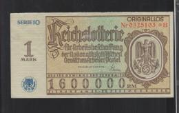Reichslotterie 1 Mark 1937 - Billets De Loterie