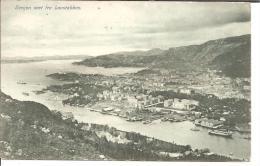 N109/ Bergen, Panorama 1918 - Norwegen