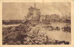La Bataille De L'Yser Par A. Bastien. Ypres, Place Du Marché. - Guerre 1914-18