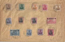 Germany (Etappengebiet West) 1916  (o) Mi.1-12  (on Cover / Auf Brief) - Occupation 1914-18
