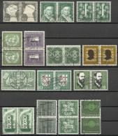 # Germania Federale, Francobolli Del 1953-1960 - In Coppia Usati / Used - [7] Repubblica Federale