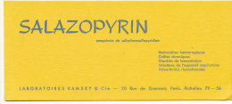 BU 1176 / BUVARD  - SALAZOPYRIN - Produits Pharmaceutiques