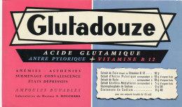 BU 1178 / BUVARD  - GLUTADOUZE - Produits Pharmaceutiques