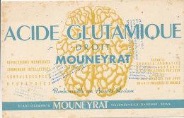 BU 1181 / BUVARD  -  ACIDE GLUTAMIQUE - Produits Pharmaceutiques