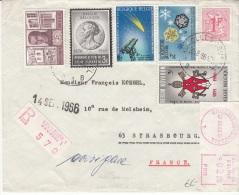 BELGIUM REGISTERED COVER 29/08/1966 SAINT-GILLES VERS STRASBOURG - Lettres & Documents