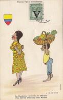 Colombie - Figuras Tipicas Colombianas - Folklore / Stamps Postmarked 1951 / La Talboterie Près Cognac - Colombie