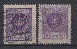 POLEN - Michel - 1924 - Nr 209a+b - Gest/Obl/Us - 1919-1939 Republik