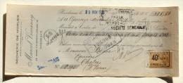 Lettre De Change - Bordeaux Gironde - Marcel Vimeney Secherie De Morues 29 Cours D'Alsace Lorraine - Bills Of Exchange