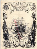 35 - SAINT MALO - BEAU MENU XXIIE CONGRE AMICALE INTERNATIONAL DES CAP HORNIERS-1966- CAO HORN- SCHOUTEN LE MAIRE - - Menus