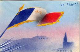 Drapeau Français - En Avant ! METZ - STRASBOURG  - 1914(70301) - War 1914-18