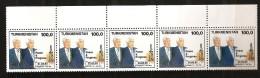 Turkménistan 1993 N° 30 / 4 ** Visite Présidentielle, Etats-Unis, USA, Pétrole, Gaz, Forage, Bill Clinton, Niyazov - Turkménistan