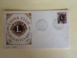LIONS CLUB CINQUANTENARIO 1917-1967  DATA 30/10/1967 FIRENZE - 6. 1946-.. Republic