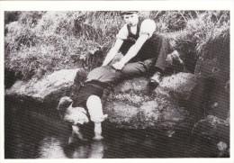 Postcard Tickling Trout Country Craft Edwardian View Fishing Poaching Repro - Fishing